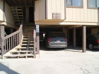 Carolina Beach condo photo - assigned parking right next to steps up to condo
