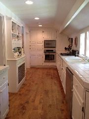 Woodstock farmhouse photo - Kitchen with new stainless appliances and all neccessities