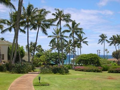 Just walk down the sidewalk to Poipu Beach