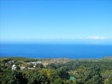 Kainaliu villa rental - Full coastline ocean view from Lanai