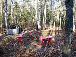 Crandon cabin photo - Fire pit at the river.