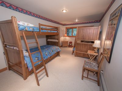 Two bunk beds. Sleeps 4.