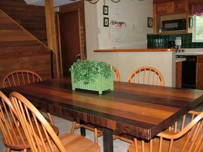 Dining, kitchen areas, table has 2 add'l leaves