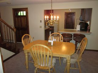 Meredith house photo - Dining room table seats 6, kitchen counter sits 2