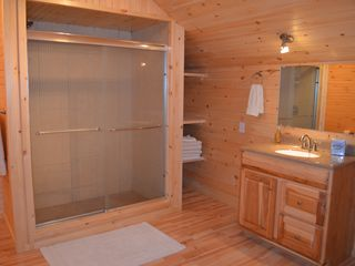 Lake Placid lodge photo - Master Bath