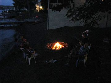View of firepit, for relaxing fun.
