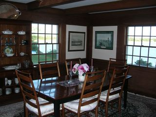 West Yarmouth house photo - Redwood Paneled Dining Room