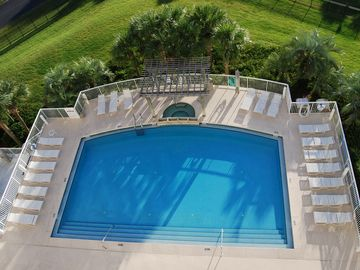 More private Terrace Pool and Spa, 1 of 3 pools, complete with 2 gas grills.