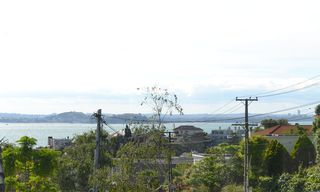 Auckland CBD townhome photo - View from living room across Auckland harbour.