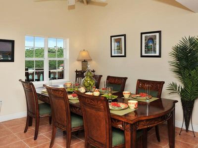 Dining room with a spectacular view