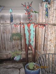 Santa Fe townhome photo - Garden Shaman! Lights up at night and over looks your entrance.