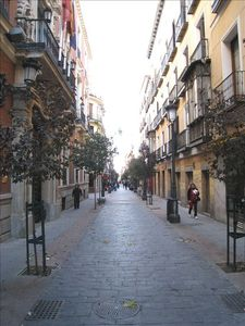 Huertas Street by the Apartment