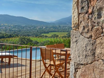 STONE HOUSE TYPE BERGERIE - PRIVATE HEATED POOL - sea and mountain view - A Ciuccia