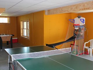 Athens - Sleepy Hollow Lake cabin photo - Playroom in walk out basement, ping pong, foosball, basketball game, darts