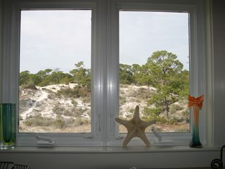 Dauphin Island house photo - Beautiful dune views from the main floor kitchen sink window