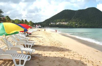 Reduit Beach - The best beach in St Lucia, only 3 minutes walk away.