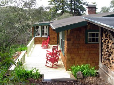 Historic 1917 redwood cabin with hot tub vrbo for Vacation rentals san francisco bay area