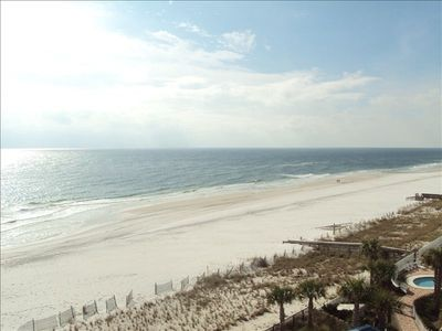 The balcony directly overlooks the white, pristine beaches of Orange Beach!