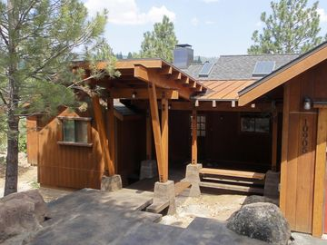 Truckee house rental - New Covered Front Entry Porch and Heated Steps for snow melting!
