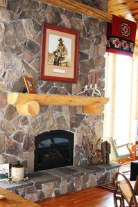 Enjoy the gas log fireplace!