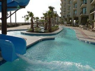 Water Slide into the Lazy River!