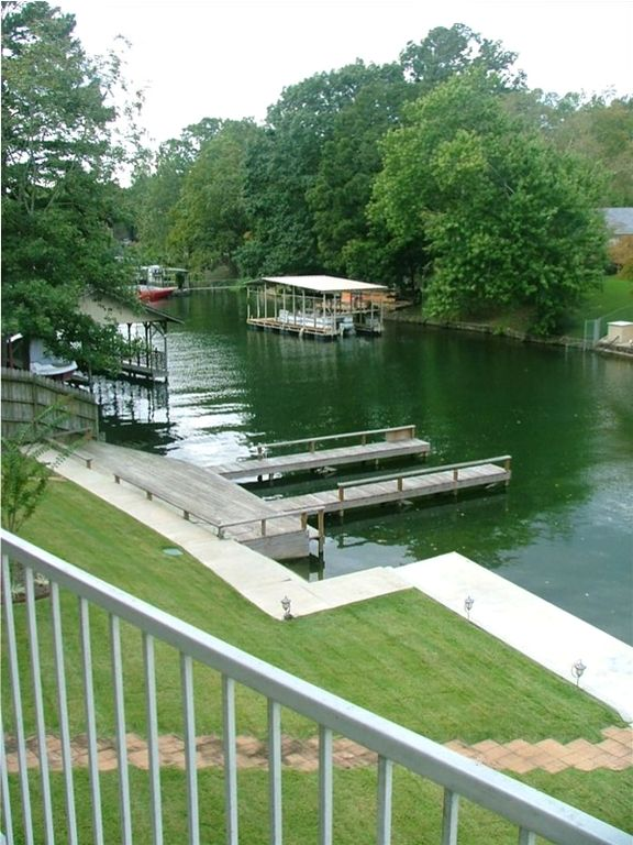 Balcony View of Boardwalk on Lake Hamilton