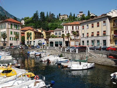 The pretty Menaggio harbour