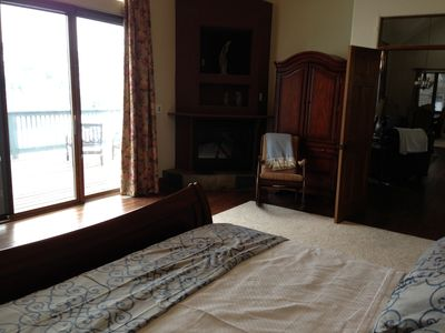 Master Bedroom. Master has a king bed and access to the large wraparound deck.