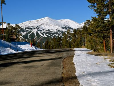 Breck Ski Resort views from our driveway