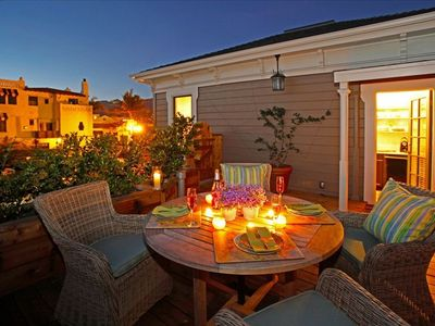 Romantic roof top patio