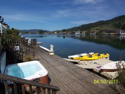 Prodigy Spa, 60' Redwood deck, Kayaks, Laser, Scull, Dock, Lagoon