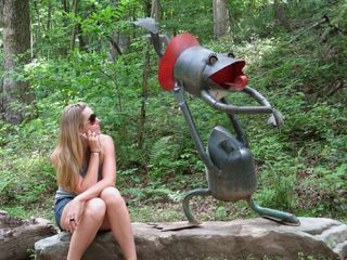 Lookout Mountain cabin photo - Folk art sculpture garden