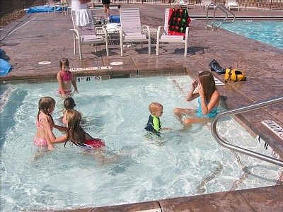 Summer fun at the Lakeside Resort Kiddie Pool. Hot tub and swimming pool too!