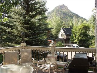 Aspen house photo - Large Deck with BBQ Grill and views