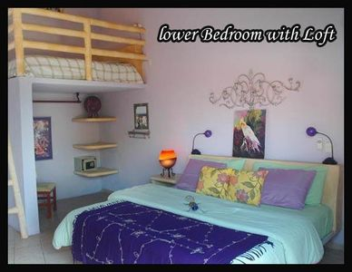Lower Bedrom with loft at Cancion del Mar