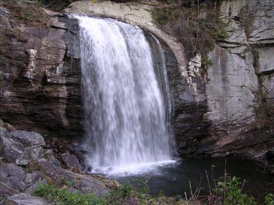 Looking Glass Falls in nearby Pisgah National Forest.