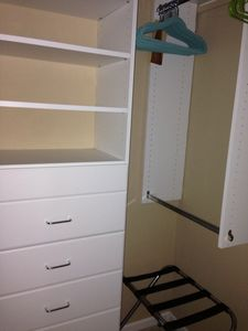 California closet system in master bedroom