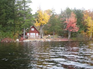 Sebago cottage photo - Fall 2008 (Private 1 Acre Lot)