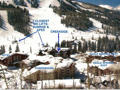 CREEKSIDE IS THE ONLY TRUE SKI IN - SKI OUT PROPERTY IN SOLITUDE VILLAGE!
