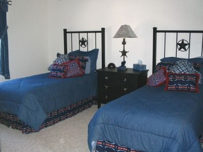 Upstairs Bedroom with Two Twin Beds