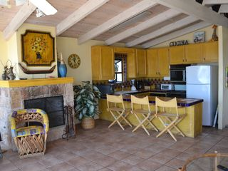 Las Gaviotas house photo - The kitchen and fireplace!