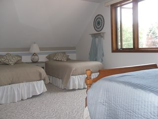 Oscoda house photo - upstairs back bedroom - one double, two twins