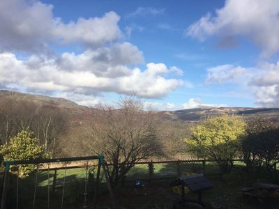 Luxury rural cottage with stunning views of the Brecon Beacon National Park