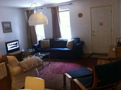 Living room. DirecTV Satellite Service, Wi-Fi, DVD player in TV, sofa-bed