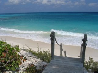 Little Exuma house photo - Beach Acess off the Deck