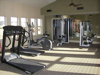 Work Out Facilities Right By The Association Pool And Club House