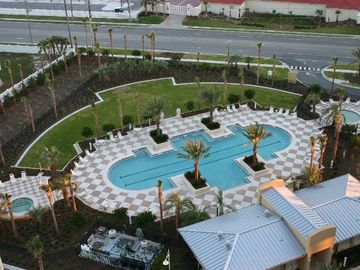 Harbor Landing 203A - Aerial View of Pool
