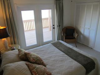 Ponte Vedra Beach house photo - Main Floor Oceanside Bedroom with door to deck - Queen bed