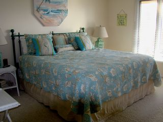 Ponte Vedra Beach condo photo - One of the Master Bedrooms - King Size Mattress