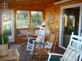 Barnstable estate photo - The Sun Porch ... great for quite time on a warm summers day !